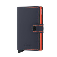 Secrid Mini Wallet Portemonnee Matte Night Blue / Orange