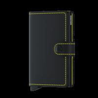 Secrid Mini Wallet Portemonnee Matte Black/ Yellow