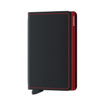 Secrid Slim Wallet Portemonnee Matte Black/ Red