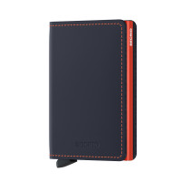 Secrid Slim Wallet Portemonnee Matte Night Blue / Orange