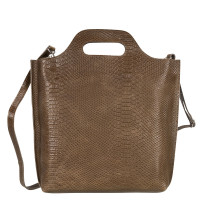 Myomy My Carry Bag Shopper Medium Anaconda Taupe