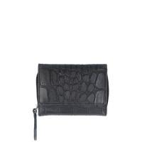 LouLou Essentiels Vintage Croco Silver Wallet Small Black