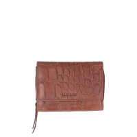 LouLou Essentiels Vintage Croco Silver Wallet Small Cognac