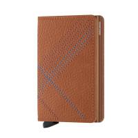 Secrid Slim Wallet Portemonnee Stitch Linea Caramello