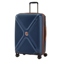 Titan Paradoxx 4 Wheel Cabin Trolley M Expandable Navy