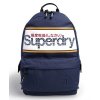 Superdry Montana Stripe Logo Backpack Downhill Blue