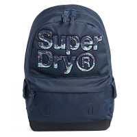 Superdry Montana Stripe Aqua Star Backpack Dark Navy