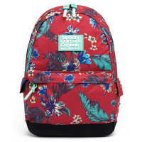 Superdry Montana Vintage Hawaiin Backpack Red Floral