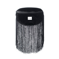 Spiral Black Label Bum Bag Velvet Tassels Black