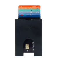 Walter Wallet Aluminium Slim 7 Cards Black