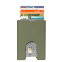 Walter Wallet Aluminium Raw Green