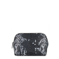 Cowboysbag X Bobbie Bodt Wash Bag Ruby Snake Black And White