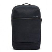 Salzen Savvy Leather Daypack Backpack Charcoal Black
