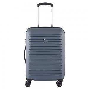 Delsey Segur Slim Cabin Trolley Case 4 Wheel 55 Blue