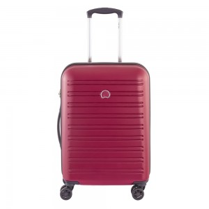 Delsey Segur Slim Cabin Trolley Case 4 Wheel 55 Red