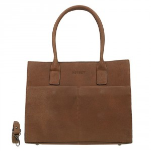 DSTRCT Fletcher Street Womens Business Laptoptas 15.6'' Cognac 016620