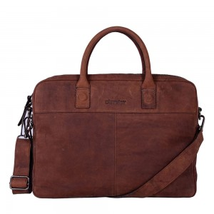 DSTRCT Wall Street Business Laptoptas 15.6'' Brown