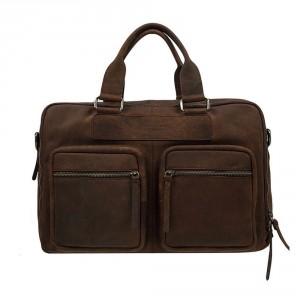 DSTRCT Wall Street Business Working Bag Laptoptas 15.6'' Brown 76620