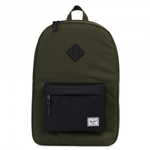 Herschel Heritage Rugzak Forest Night/ Black/ Black Rubber