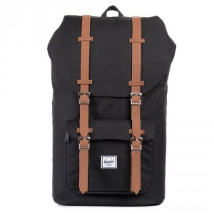 Herschel Little America Rugzak Black/Tan PU