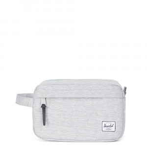 Herschel Chapter Toilettas Light Grey Crosshatch