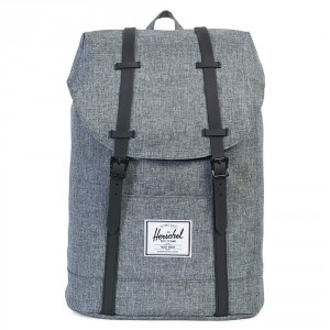 Herschel Retreat Rugzak Raven Crosshatch/Black Rubber