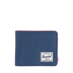 Herschel Roy Plus Coin Portemonnee RFID Navy/Red