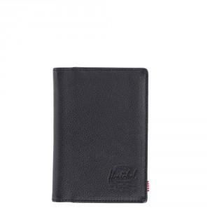Herschel Raynor Passport Holder RFID Leather Black