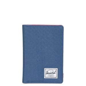 Herschel Raynor Passport Holder RFID Navy/Red