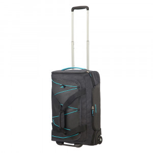 American Tourister Road Quest Duffle Wheels 55 Graphite/ Turquiose