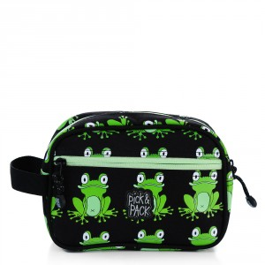 Pick & Pack Fun Toilettas Frog Pattern Black