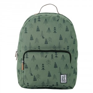 The Pack Society The Cool Prints Rugzak Green Tree Allover