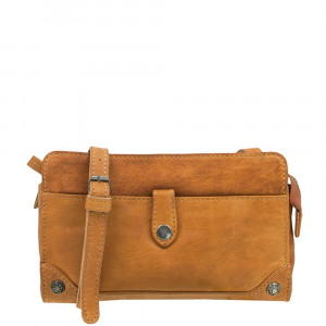 DSTRCT Northfields Way Crossbody Schoudertas Cognac 221030
