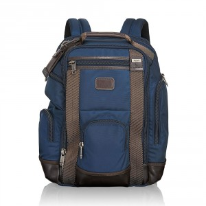 Tumi Alpha Bravo Shaw Deluxe Brief Pack Navy 2
