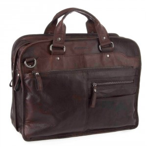 Spikes & Sparrow Bronco Business Bag A4 Dark Brown 23637