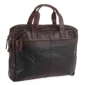 Spikes & Sparrow Bronco Business Bag Dark Brown 24484