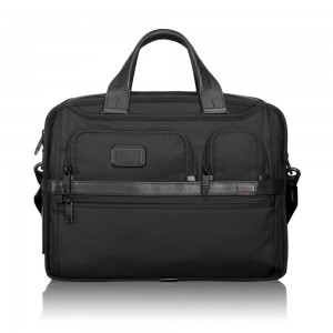 Tumi Alpha 2 Business Organizer Computer Brief Expandable Black