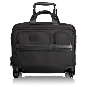 Tumi Alpha 2 Business 4-Wheeled Deluxe Brief With Laptop Case Black