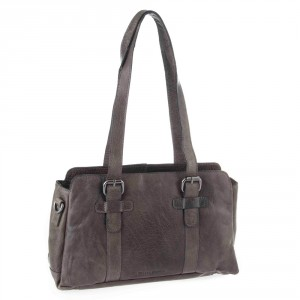 Spikes & Sparrow Bronco Shopper Zip Bag Charcoal 292B131