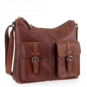 Spikes & Sparrow Bronco Zip Bag Brandy 292E131