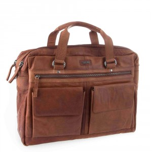 Spikes & Sparrow Bronco Business Bag Brandy 294S151