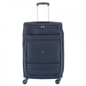 Delsey Indiscrete Trolley 4 Wheel 69 Expandable Blue