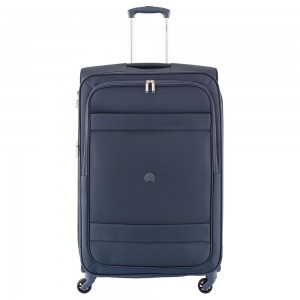 Delsey Indiscrete Trolley 4 Wheel 78 Expandable Blue