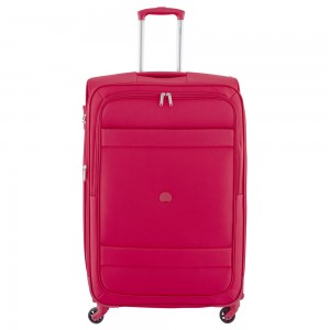 Delsey Indiscrete Trolley 4 Wheel 78 Expandable Red