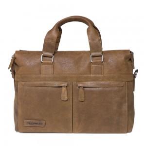 "Plevier Business/ Laptoptas Crunch 2-Vaks 15.6"" Cognac 472"