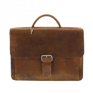 Plevier Business/ Laptoptas Vintage 2-Vaks Brown 549