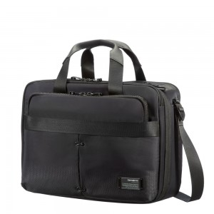 "Samsonite Cityvibe 3 Way Business Case 16"" Expandable Jet Black"