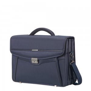 "Samsonite Desklite Briefcase 3 Vaks 15.6"" Blue"