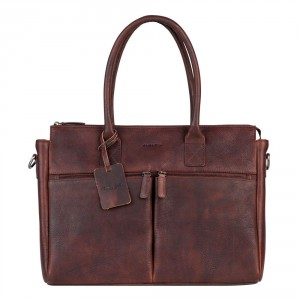 """Burkely Antique Avery Laptopbag 15.6"""" Brown 698856"""