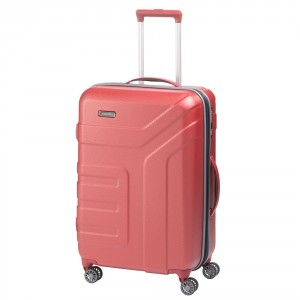 Travelite Vector 4 Wheel Trolley M Expandable Coral